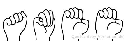 Amee in Fingersprache für Gehörlose