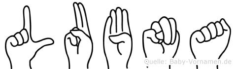 Lubna in Fingersprache für Gehörlose