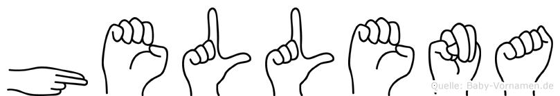 Hellena in Fingersprache für Gehörlose