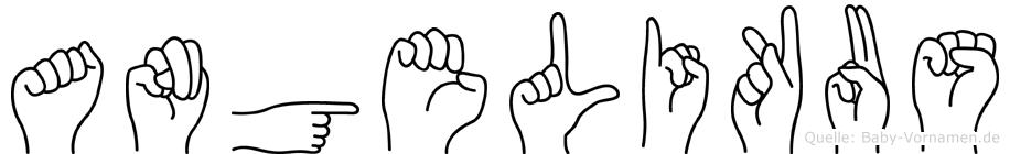 Angelikus in Fingersprache für Gehörlose