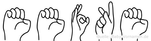 Eefke in Fingersprache für Gehörlose
