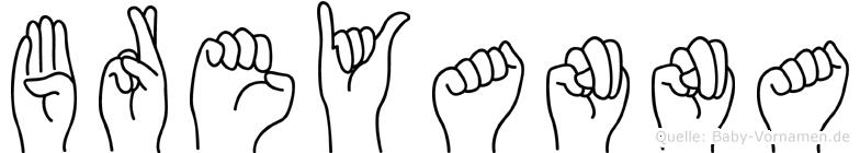Breyanna in Fingersprache für Gehörlose