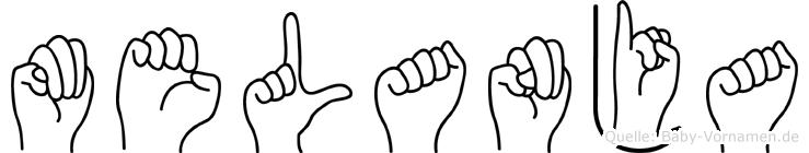 Melanja im Fingeralphabet der Deutschen Gebärdensprache