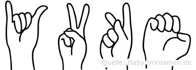 Yvke in Fingersprache für Gehörlose