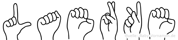 Laerke in Fingersprache für Gehörlose