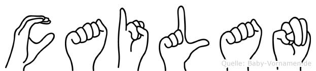 Cailan im Fingeralphabet der Deutschen Gebärdensprache