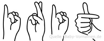 Irit im Fingeralphabet der Deutschen Gebärdensprache