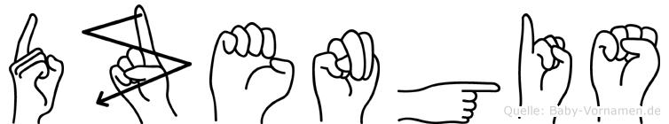 Dzengis in Fingersprache für Gehörlose