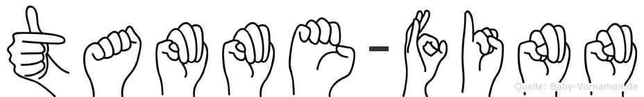 Tamme-Finn im Fingeralphabet der Deutschen Gebärdensprache