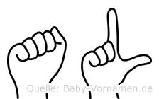 Al im Fingeralphabet der Deutschen Gebärdensprache