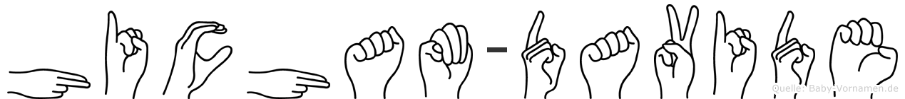 Hicham-Davide im Fingeralphabet der Deutschen Gebärdensprache