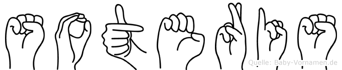 Soteris im Fingeralphabet der Deutschen Gebärdensprache