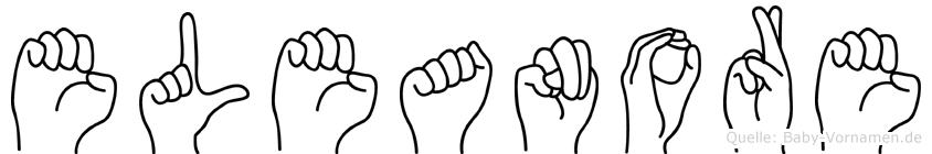 Eleanore im Fingeralphabet der Deutschen Gebärdensprache