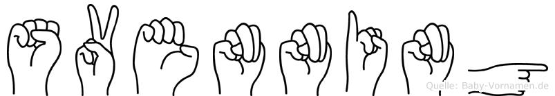 Svenning im Fingeralphabet der Deutschen Gebärdensprache