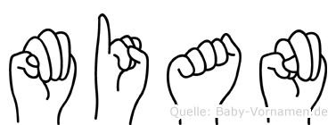 Mian in Fingersprache für Gehörlose
