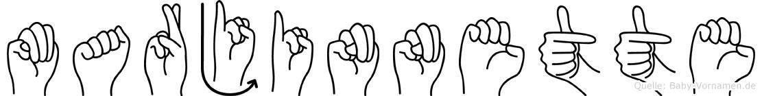 Marjinnette in Fingersprache für Gehörlose