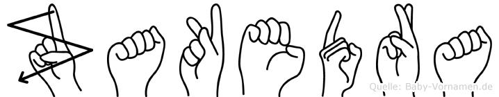 Zakedra im Fingeralphabet der Deutschen Gebärdensprache
