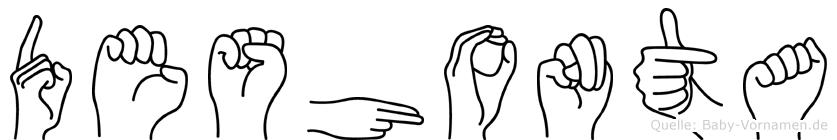 Deshonta im Fingeralphabet der Deutschen Gebärdensprache