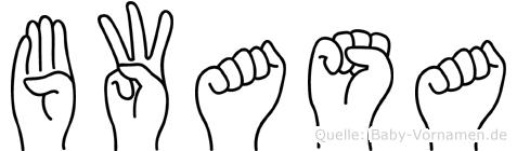Bwasa im Fingeralphabet der Deutschen Gebärdensprache