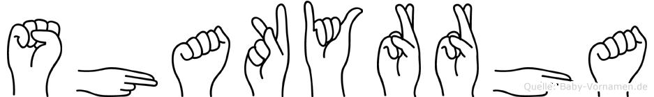 Shakyrrha in Fingersprache für Gehörlose