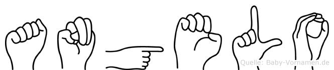 Angelo in Fingersprache für Gehörlose