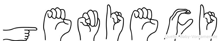 Genieci im Fingeralphabet der Deutschen Gebärdensprache