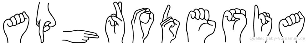 Aphrodesia in Fingersprache für Gehörlose