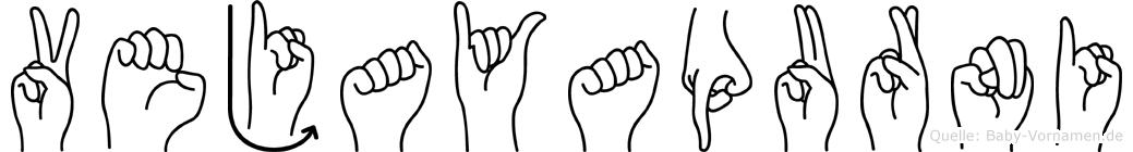 Vejayapurni im Fingeralphabet der Deutschen Gebärdensprache