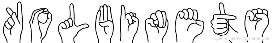 Kolbinets im Fingeralphabet der Deutschen Gebärdensprache
