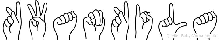 Kwankila im Fingeralphabet der Deutschen Gebärdensprache