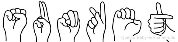 Sunket in Fingersprache für Gehörlose