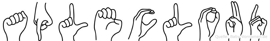Aplecloud in Fingersprache für Gehörlose