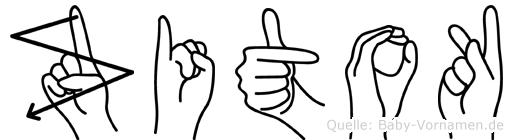 Zitok in Fingersprache für Gehörlose