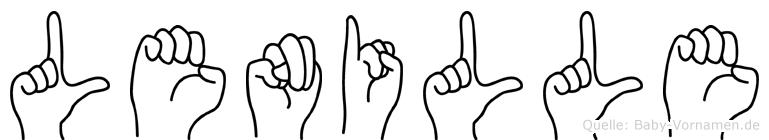 Lenille in Fingersprache für Gehörlose