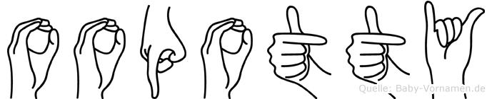 Oopotty in Fingersprache für Gehörlose