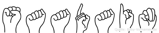 Saadain in Fingersprache für Gehörlose