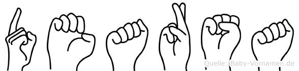 Dearsa im Fingeralphabet der Deutschen Gebärdensprache