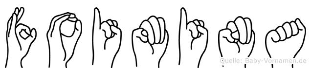 Foimina im Fingeralphabet der Deutschen Gebärdensprache