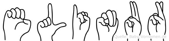 Elinur in Fingersprache für Gehörlose