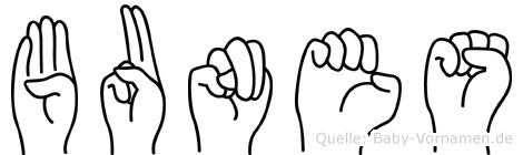 Bunes in Fingersprache für Gehörlose