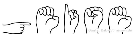 Geise im Fingeralphabet der Deutschen Gebärdensprache