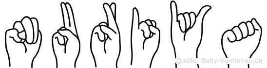 Nuriya in Fingersprache für Gehörlose