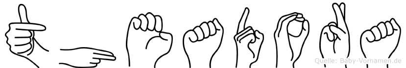 Theadora in Fingersprache für Gehörlose