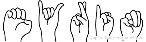 Eyrin im Fingeralphabet der Deutschen Gebärdensprache