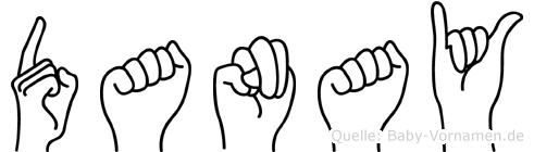 Danay im Fingeralphabet der Deutschen Gebärdensprache