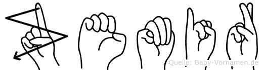 Zemir in Fingersprache für Gehörlose