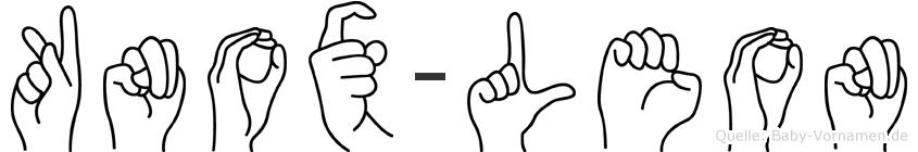 Knox-Leon im Fingeralphabet der Deutschen Gebärdensprache