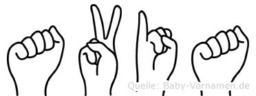 Avia in Fingersprache für Gehörlose