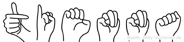 Tienna in Fingersprache für Gehörlose