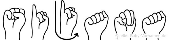 Sijana in Fingersprache für Gehörlose